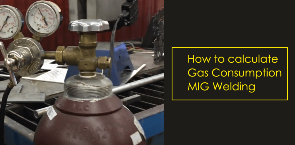 How to calculate the gas consumption in MIG welding