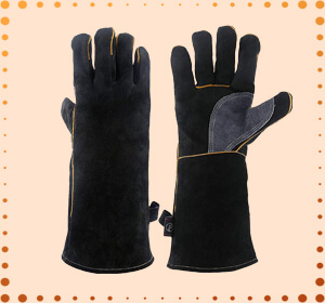 KIM YUAN Heat & Fire-Resistant Welding Leather Gloves